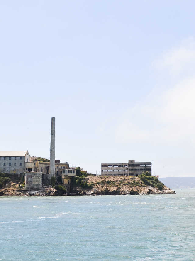 walking around alcatraz island