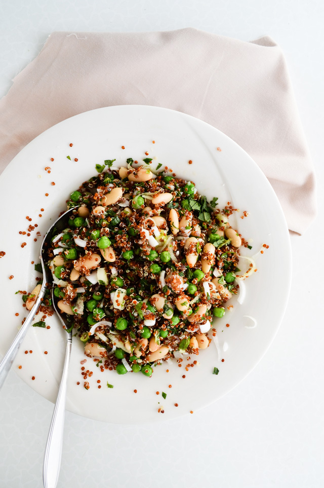 refreshing red quinoa salad