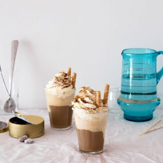 Ice cream iced coffee with whipped cream is a classic summer treat that every coffee lover adores.