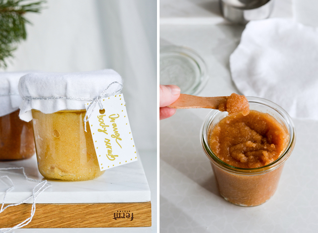 Cinnamon orange sugar scrub is the perfect diy gift for the holidays!