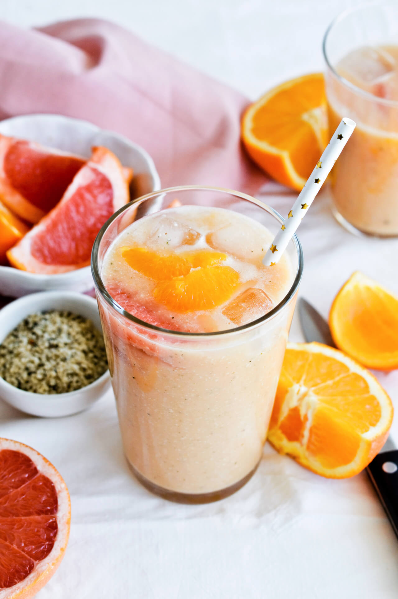 Vitamin C citrus power smoothie is an easy quick vegan smoothie, perfect for breakfast or snack.