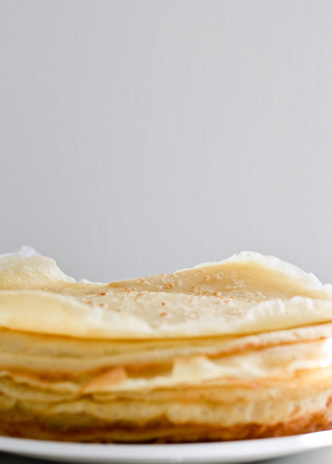orange ricotta crepe cake - crepes