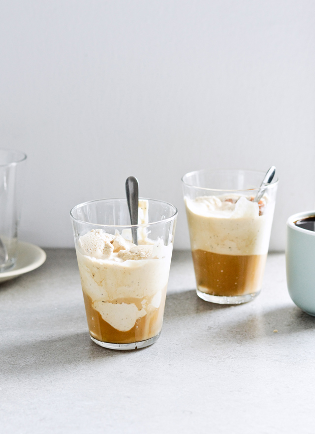No churn coffee ice cream affogato recipe and Gilmore Girls recap, season 1