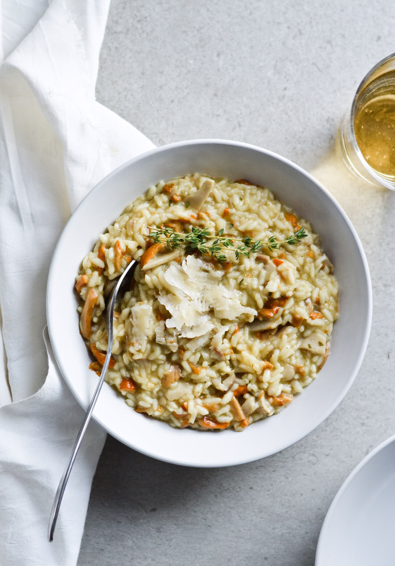 Wonderful wild mushroom magic risotto, inspired by Gilmore Girls! Perfect cozy dinner! Also featured Gilmore Girls recap! | sugarsalted.com