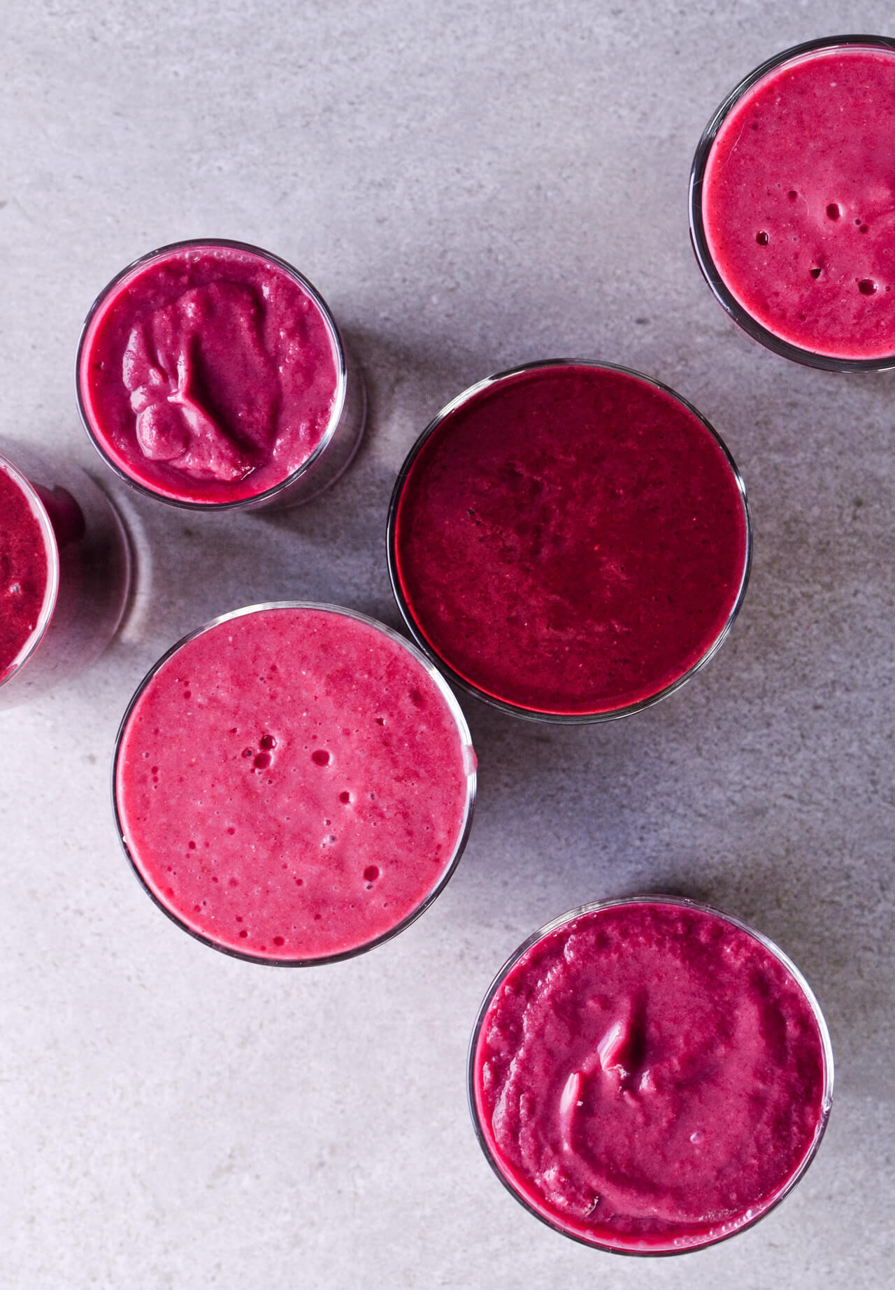 Avocado citrus berry beet smoothie - 3 recipes - aren't just pretty but are really healthy too! Purify and detox your body and start the day the vibrant way. Great breakfast or snack option. | @mitzyathome sugarsalted.com