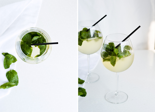 Light Hugo cocktail elderflower prosecco cocktail - a classic, easy, summer cocoktail with mint and elderflower syrup.