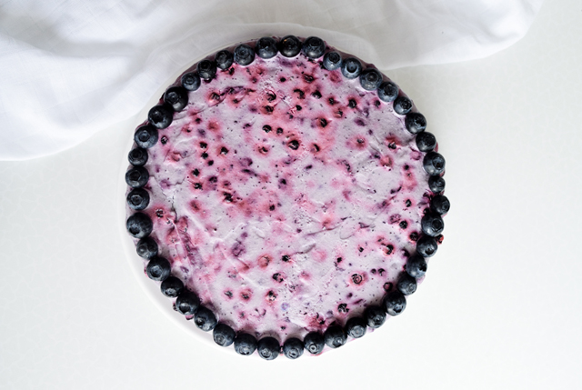Very blueberry layer cake - a pretty purple sour cream cake with whipped cream and fresh blueberries! Great for birthdays, picnics, parties, weddings.