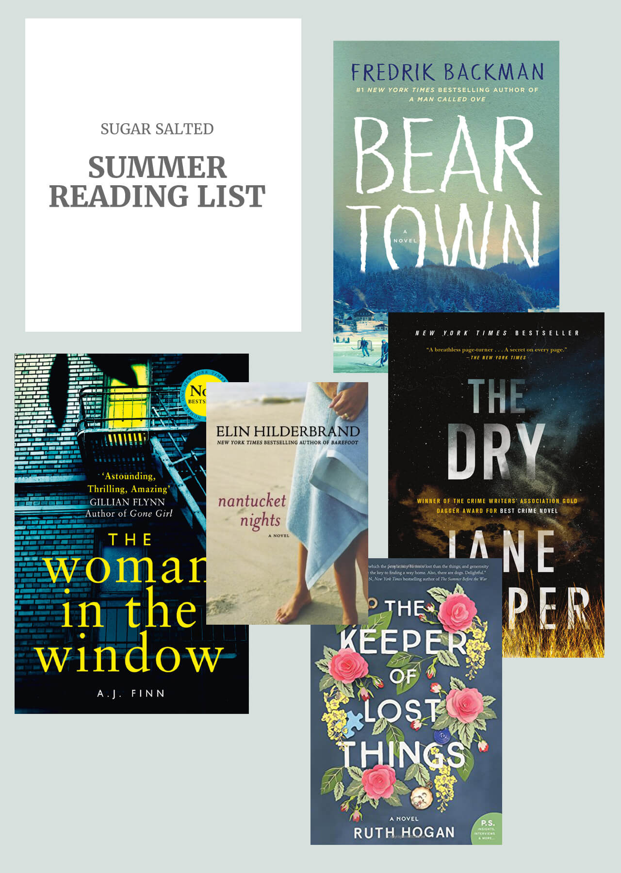 Sugar salted summer reading list for fiction!