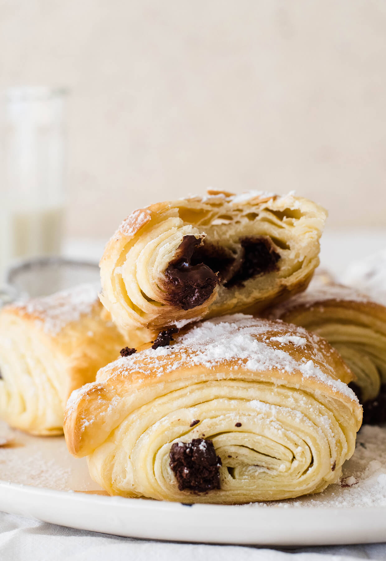 recipe for quick easy pain au chocolat chocolate croissants - homemade