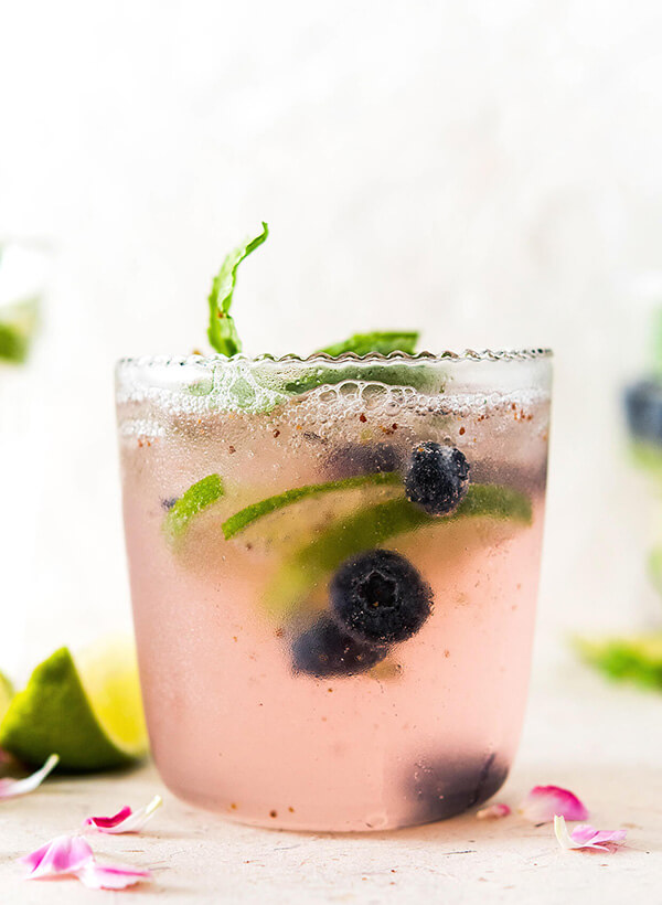 elderflower blueberry mocktail