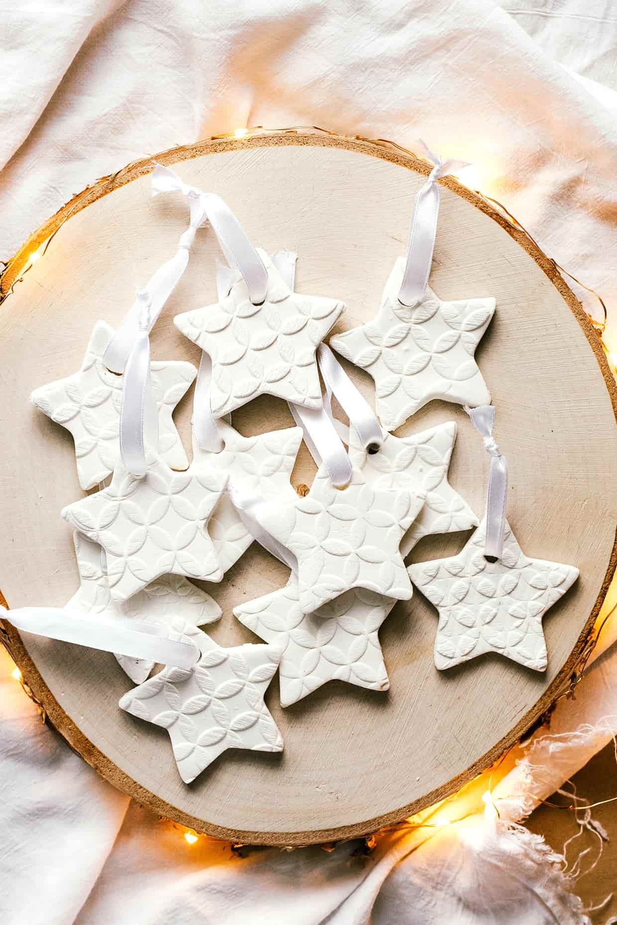Homemade scented baking soda ornaments