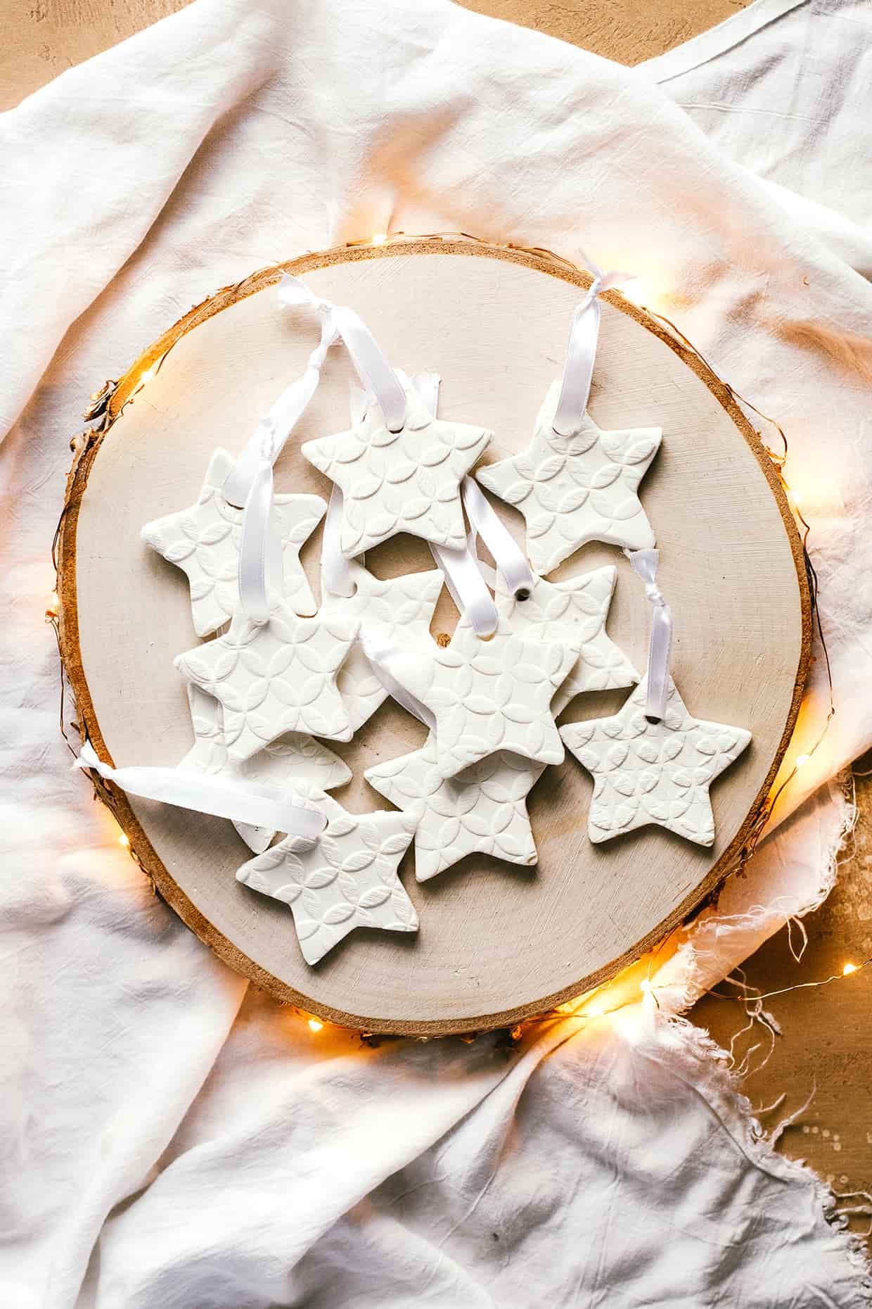 Homemade Scented Baking Soda Ornaments Sugar Salted